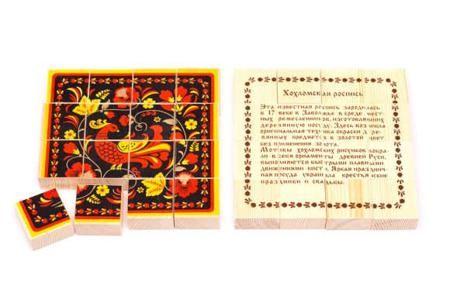 Игрушка, Пазлы деревянные Хохлома 16 деталей  — 376 руб.  —  Подходит для игры на открытом воздухе и в закрытом помещении