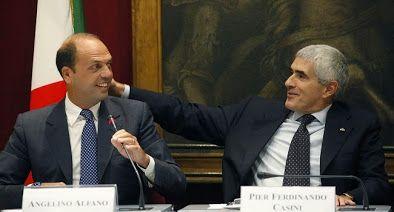 """La """"grande"""" coalizione: Alfano-Casini, uniti fino alla morte…"""