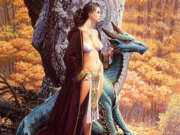 Japanese Artwork | Girl Dragon Art wallpaper | Dragonwallpapers.in