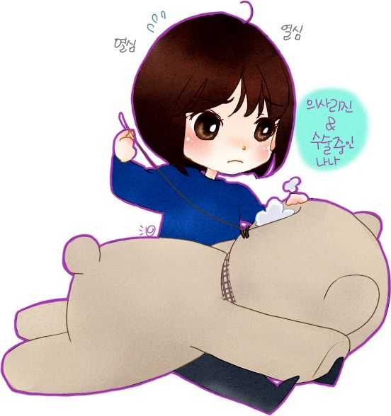 Rijin stitching Nana #KillMeHealMe #KMHM  #cartoon Kill Me Heal Me, fan art, 도현 나나