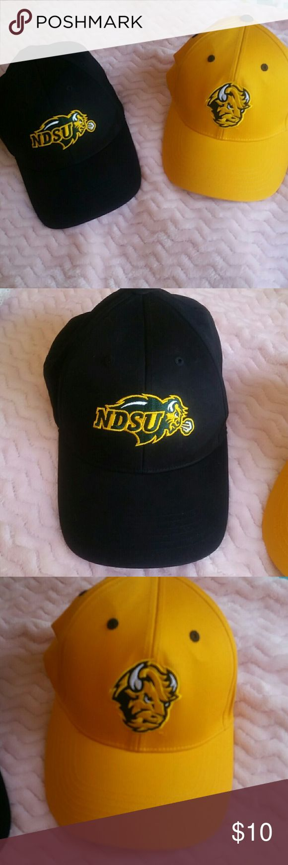 NDSU baseball hat set I'm willing to do these as a set or separately   velcro back, never worn Accessories Hats
