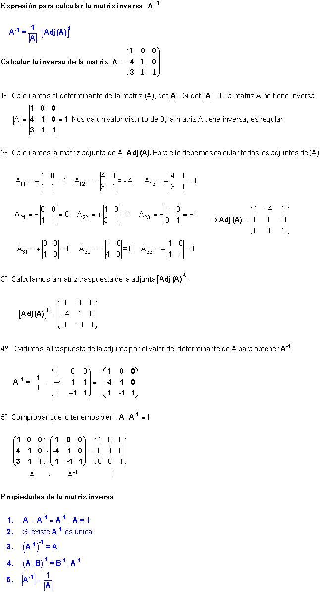 Matriz Inversa | Fórmula.