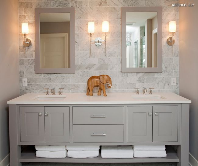 Gray Bathroom. Houzz.