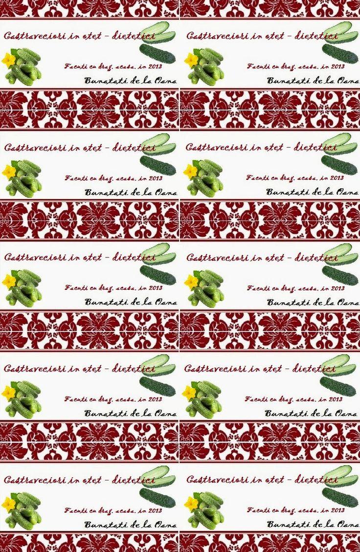 Etichete borcane - castraveciori in otet