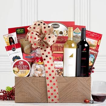 Gourmet Thank You Wine Basket.  See more at www.pro-gift-baskets.com!