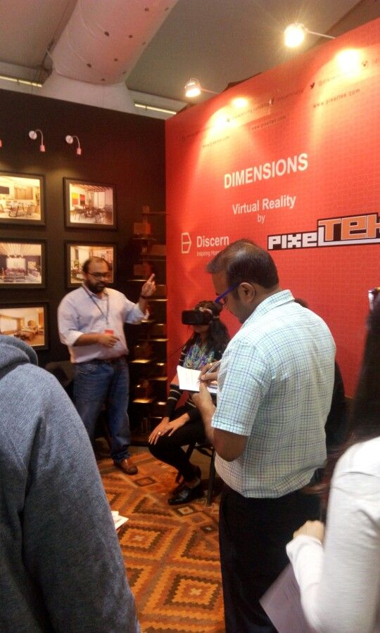 Quite a crowd gathered to check out Dimensions- Virtual Reality  at our stand at the India Design ID 2016.  We must have interacted with 500 people over 3 days!
