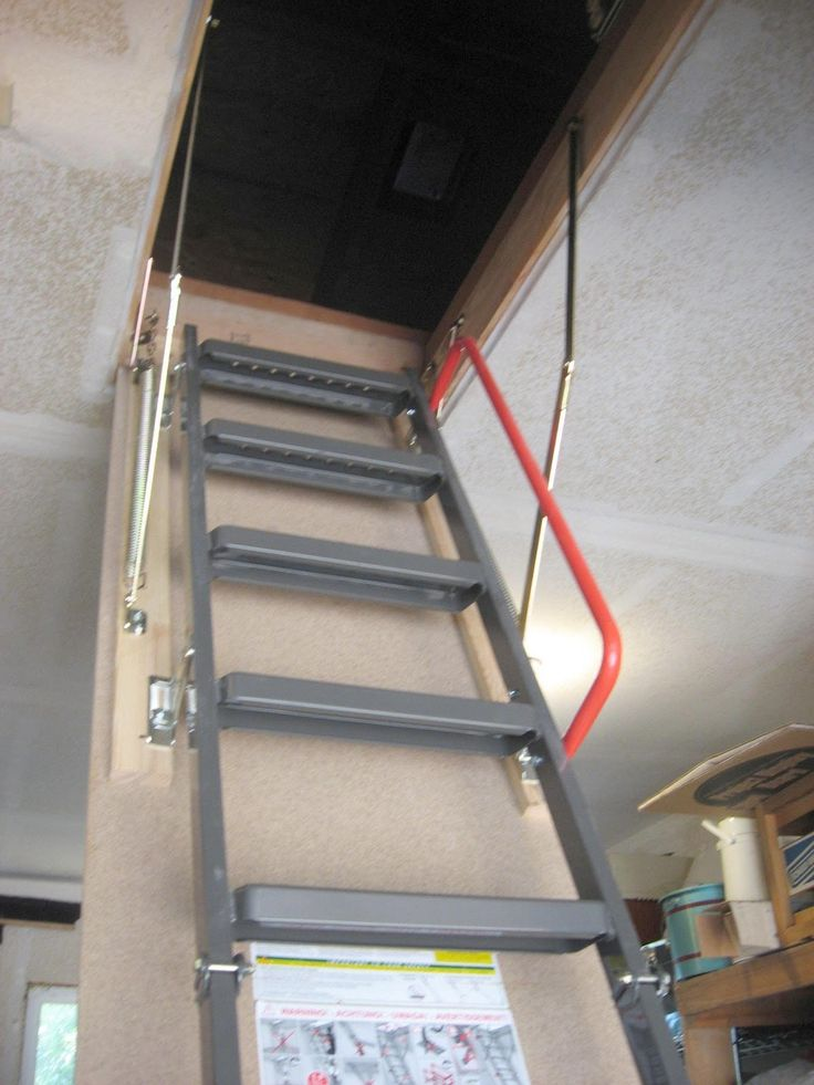 27 best images about attic on pinterest attic ideas for Folding stairs
