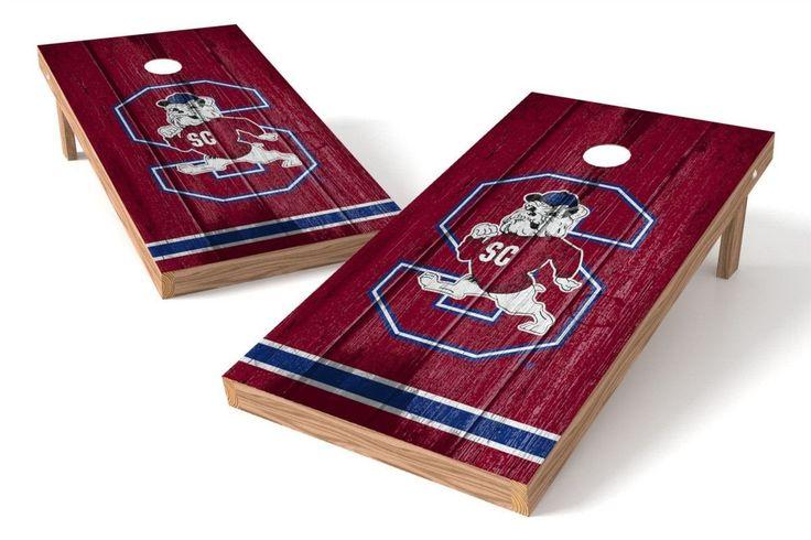 South Carolina State Bulldogs Cornhole Board Set - Vintage (w/Bluetooth Speakers)