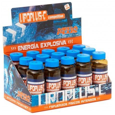 LIPOPLUS C Expositor 15 Envases sabor Naranja  Megaplus presenta una combinación de activos que actúan como un potente concentrado para incrementar de una forma contundente el aumento de energía a costa principalmente de las grasas.La lipolisis es el proceso metabólico mediante el cual los lípidos del organismo son transformados para producir ácidos grasos y glicerol para cubrir nuestras necesidades energéticas. La L-carnitina conocida como la molécula quemadora de grasas, es un…