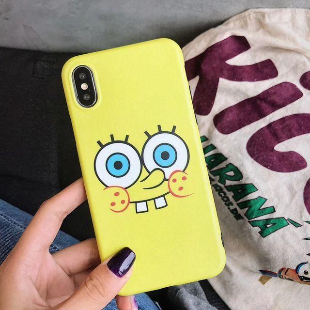 Außergewöhnlich großer Eyes SpongeBob Sesamstraße iPhone Kern   – diy telefonkasten