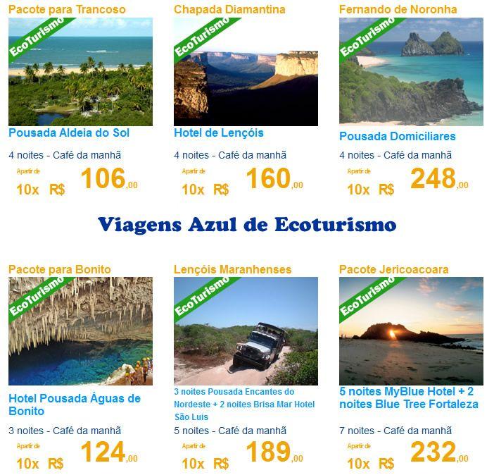 Pacotes Azul Viagens de Ecoturismo 2015 e 2016 #azulviagens #azul #ecoturismo #viagem