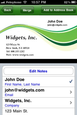 Download @ScanBizCards - Android and iPhone business card scanner app w/27 features!!