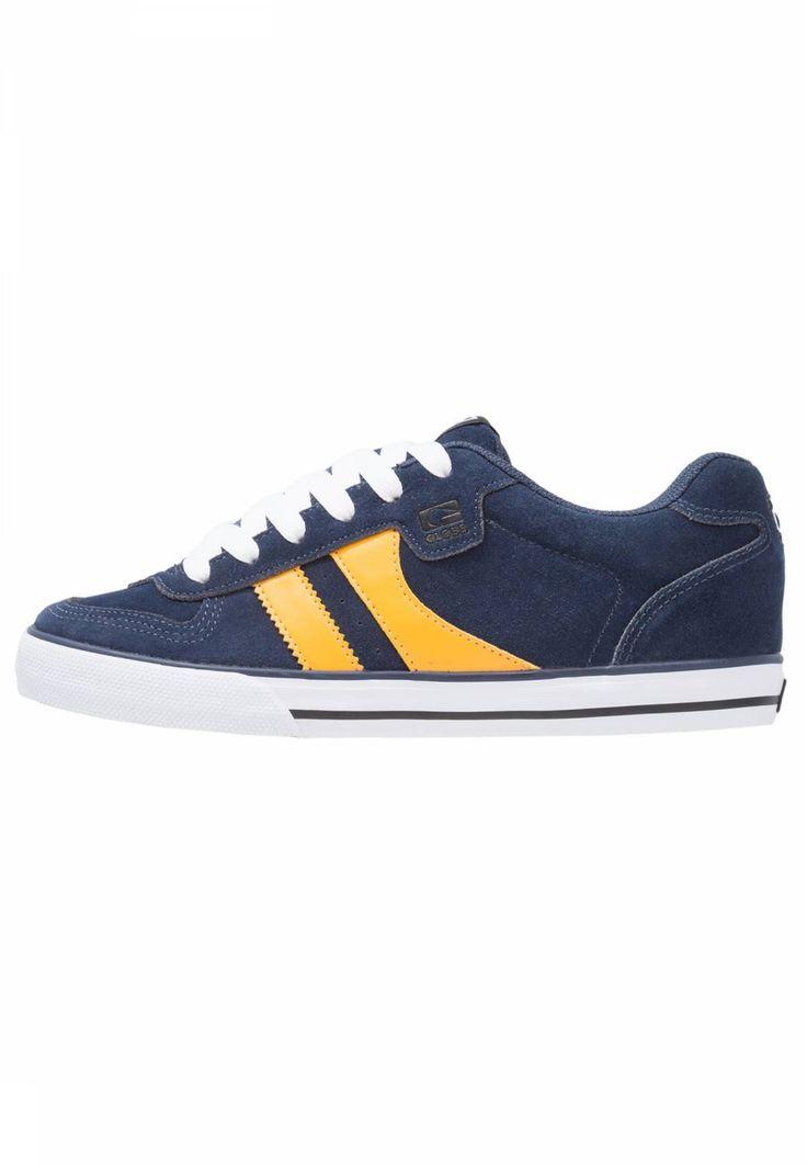 Globe. ENCORE-2 - Skateschuh - navy/yellow. Sohle:Kunststoff. Decksohle:Textil. Innenmaterial:Textil. Obermaterial:Leder. Verschluss:Schnürung. Fütterungsdicke:kalt gefüttert. Schuhspitze:rund