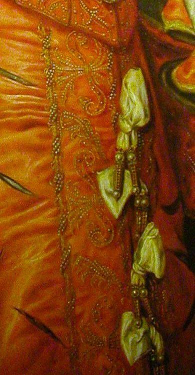Elisabeth de Valois (detail), 1568, by Antonio Moro (aka. Anthonis Mor, and Anthonis Mor van Dashorst) (Dutch, 1517-1577)