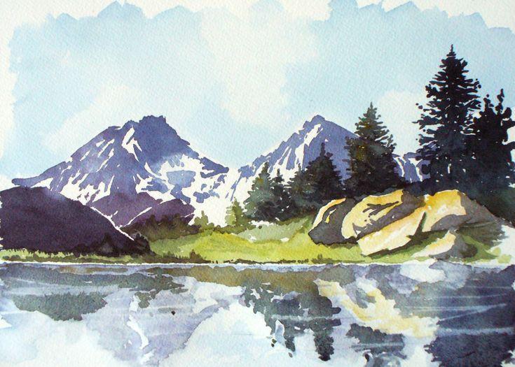 Lac De L Infernet En 2020 Paysage De Montagne En Peinture