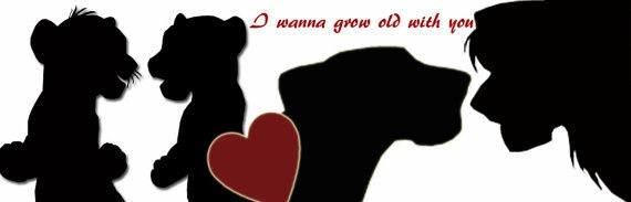 Silhouette lion king i wanna grow old with you picture fridge magnet £2.50