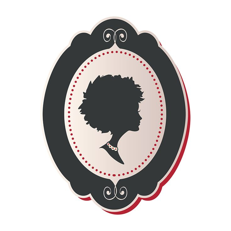 Beautiful And Modern Vector Cameo Of An African American