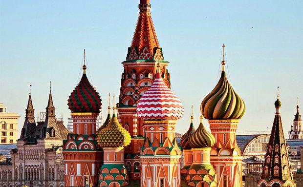 A Catedral de São Basílio, em Moscou, Rússia