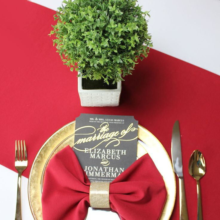 14 x 108 inches red table runner wholesale table linensred weddingtable