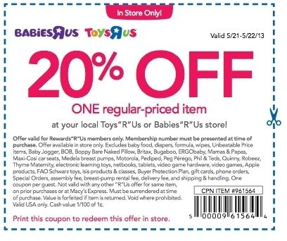 graphic relating to Babies R Us 20 Off Coupon Printable named Pin upon FC recommendations