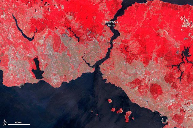 NASA Satellite Images of Istanbul Put Causes and Consequences of Urban Sprawl in Stark Relief : TreeHugger