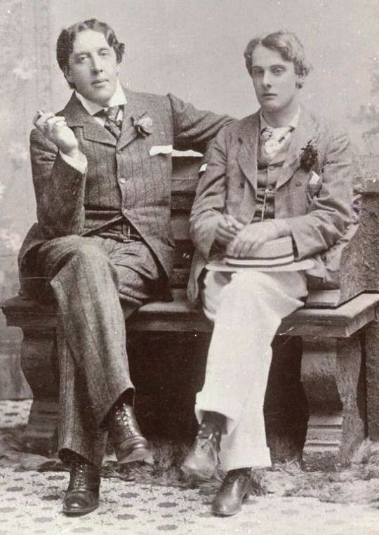 Oscar Wilde with Lord Alfred Douglas