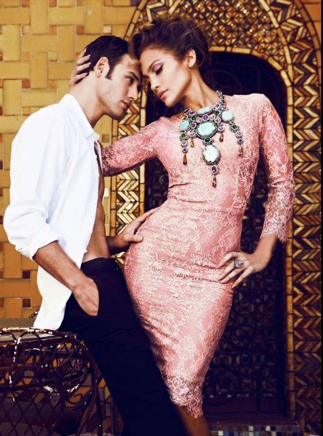 Дженнифер Лопес и Райан Гузман в журнале Latina - AN* - Жемчужины моды