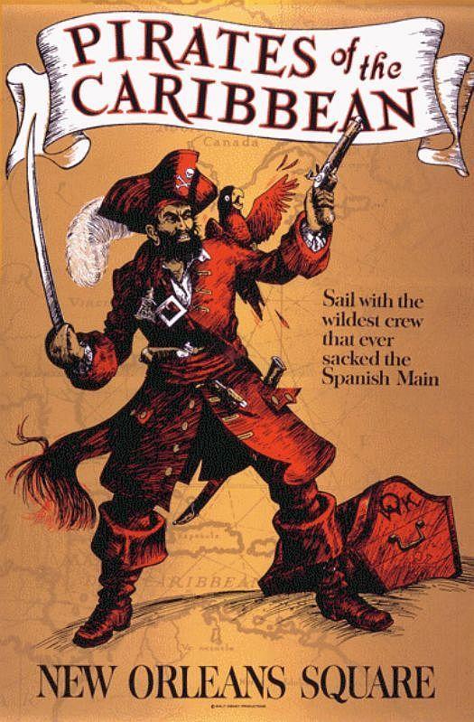 #Disney_Attraction_Posters #ADVENTURELAND #Pirates_of_the_Caribbean