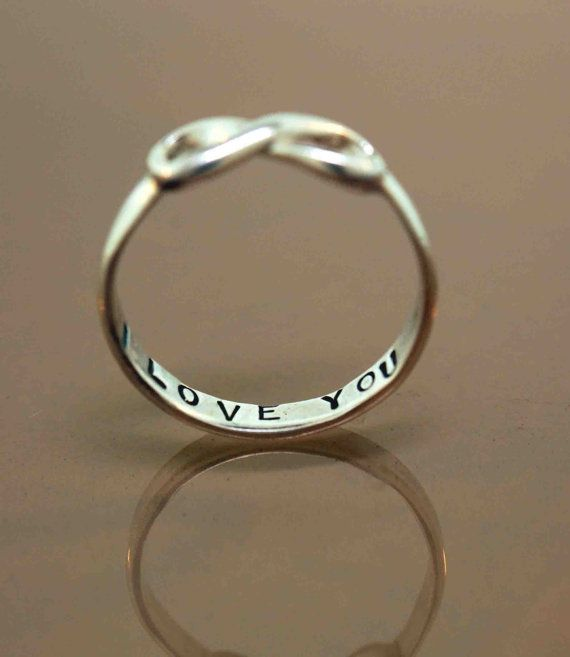 stamped silver infinity ring.