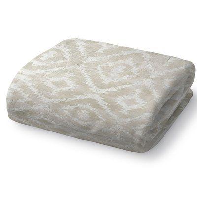 "Kavka Omari Throw Blanket Color: Ivory, Size: 40"" L x 30"" W"