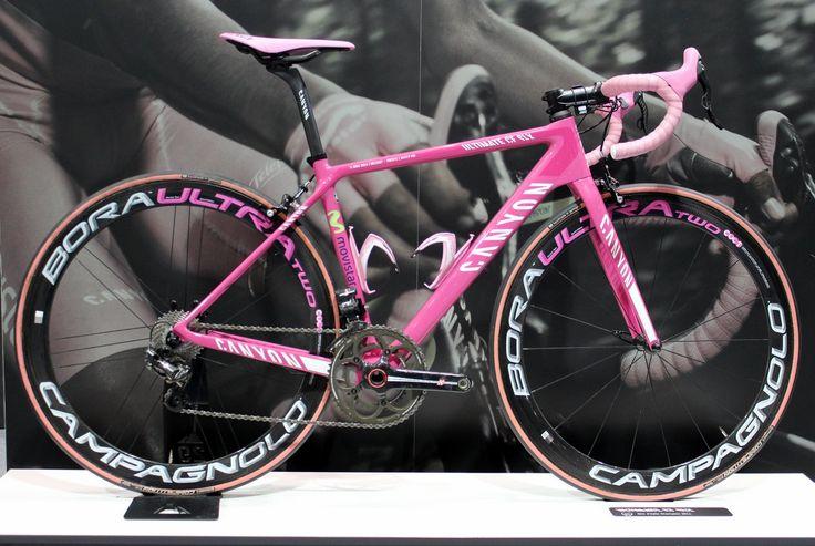 More pink and black - London Bike Show 2015: Nairo Quintana's Canyon Ultimate CF SLX, Giro d'Italia