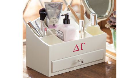 Easily keep your beauty products organized on your dresser and show your Greek pride at the same time using this accessory! (PB Teen Greek Ultimate Beauty Organizer, $65, pbdorm.com)
