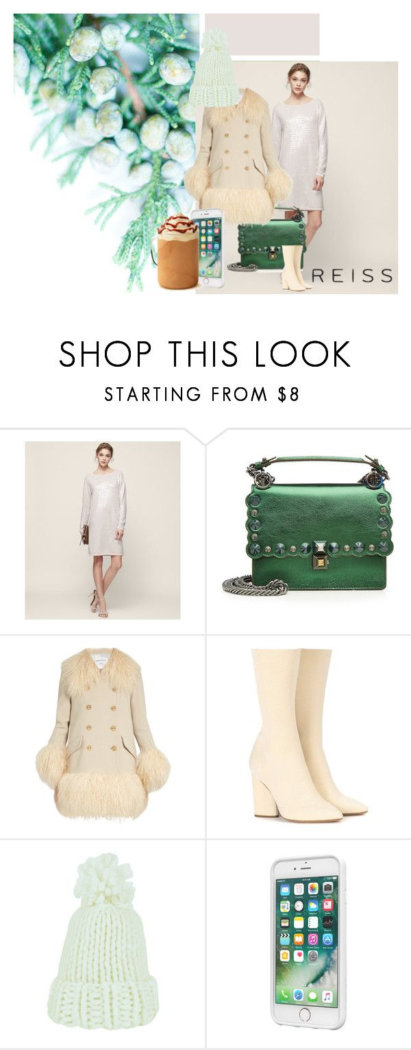 """""""Reiss Dress"""" by olenaf ❤ liked on Polyvore featuring Fendi, Sonia Rykiel, adidas Originals, Laut, Reiss, Pink, dress, nude and reiss"""