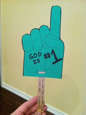 The Tall Green House: Sunday School Craft: God is #1 Foam Hand, activity for the Golden Calf story