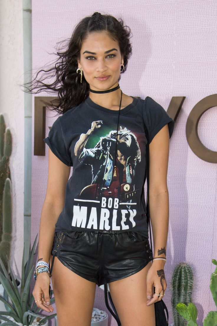 Shanina Shaik attends REVOLVE Desert House event at Coachella