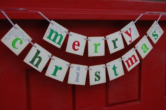 Merry Christmas banner decoration photoprop by bekahjennings, $22.00