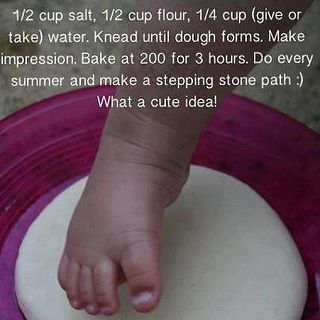 Baby footprints (not a shower idea but super cute)
