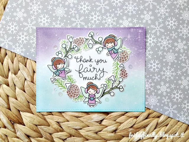 """fridayfinally: """"Thank you fairy much"""" a sweet and pretty card feat. Lawn Fawn!"""