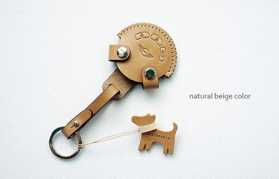 Handmade for BMW MINI COOPER Smart key holder chain Case fob