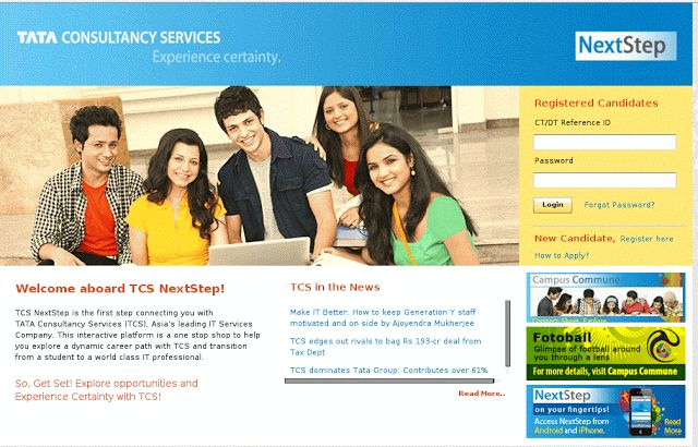 TCS NEXTSTEP REGISTRATION LINK ACTIVATED - Today Fresher Jobs