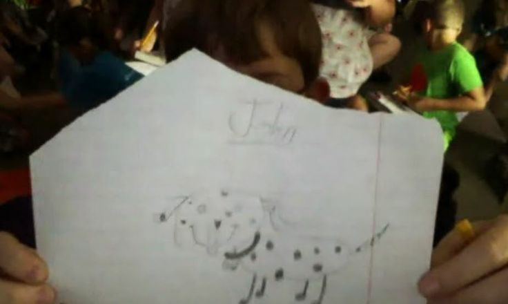 Lisa's student managed to draw the WHOLE dog. Well done and we're loving the spots.