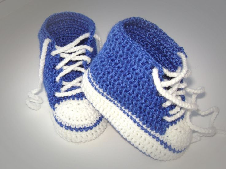 Crochet patterns PDF for baby converse shoes