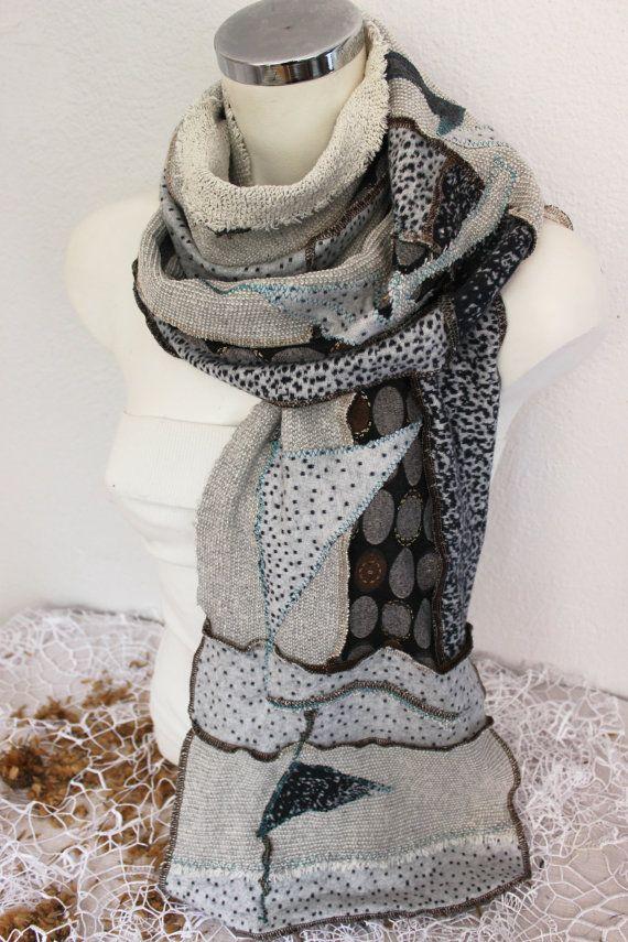 Men Gray scarves Beige Men scarves Men winter by Nazcolleccolors