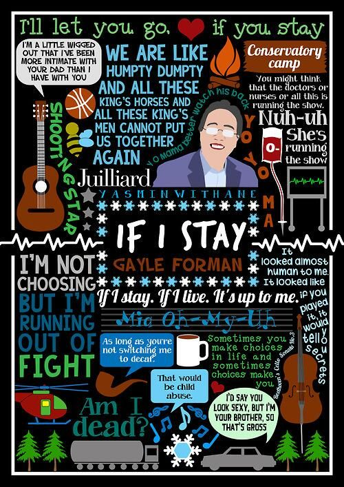 Brilliant book collage based on If I Stay