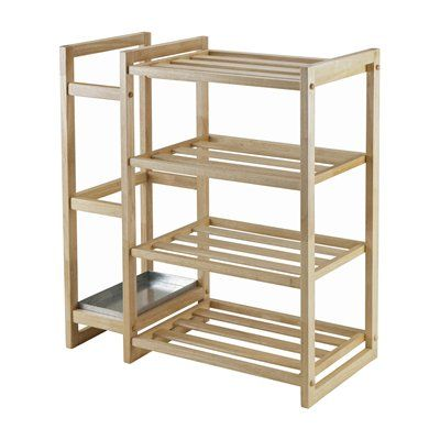 Winsome Wood Isabel Shoe Rack with Umbrella Stand
