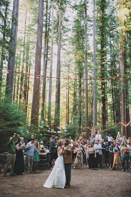 #redwoods #wedding #kevinandbri #firstdance  Set Designers: @donm @alyssameredith @dougmahergolfs  Venue: Camp Navarro  Photographer: @aimandarrow  Dress: #MBrideLaJolla