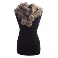 Sjaal met bont