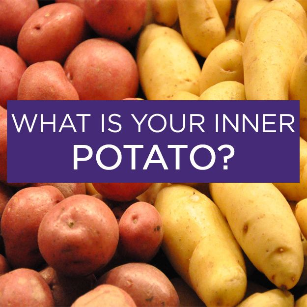 What Is Your Inner Potato?  You got: Tater Tots stu_spivack / Creative Commons Congratulations! You're tater tots. You're like the popular kids at school and you and your golden little buddies make any meal fun. You're sexy and you know it. Who's lonely? Tot you! feb 2014