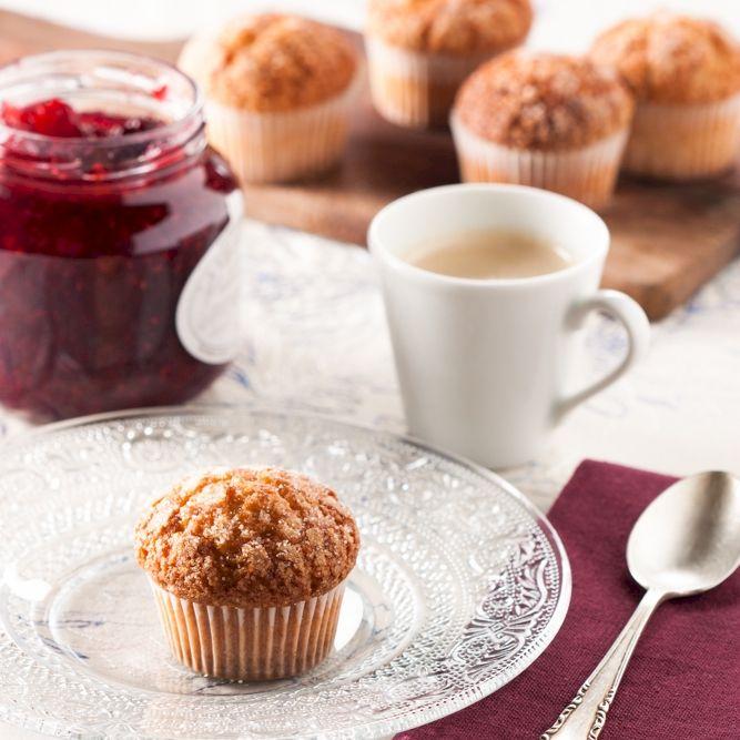 Para desayunar, prueba nuestras magdalenas de espelta caseras con una increíble mermelada de frutos rojos del bosque... :D