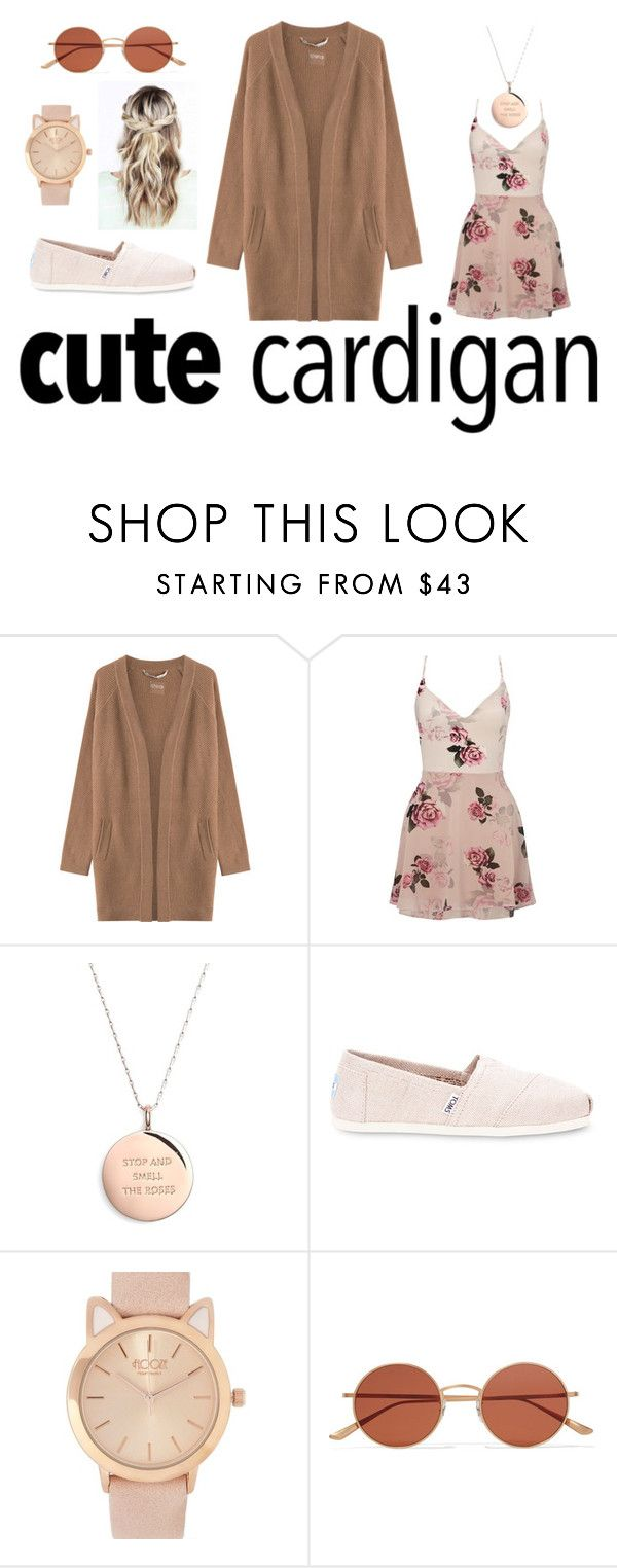 """""""Cute Spring Cardis"""" by lilyrose2000 on Polyvore featuring 81hours, Lipsy, Kate Spade, TOMS, Oliver Peoples, cutecardigan and springlayers"""